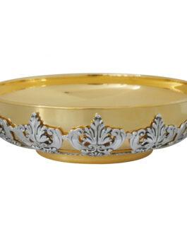 Patena Distribuição Prata/Dourada 1100G – 6,5x22cm