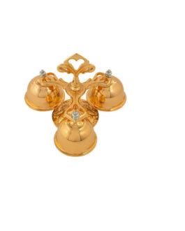 Carrilhão Dourado Total 3 Sinos 630 – 16,5×14,5cm