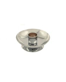Castiçal Cromado C/Bocal 9014 – 3×8,6cm