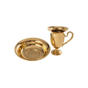 Jarra/Bacia Dourado Total B1130 – 21,5x5cm