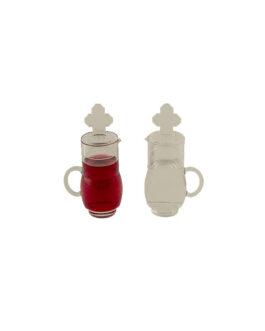 Jarrinho de Acrílico Transparente JA101 – 75ml