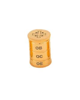 Vaso Santos Óleos 3 Dourado Total 32 – 3,2×5,3cm