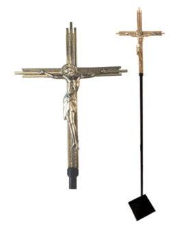 Cruz Processional Ícone Cristo MOD01