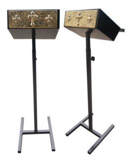 Estante P/Leitura C/Tripé Cruz Preta MOD1 – 35x120cm