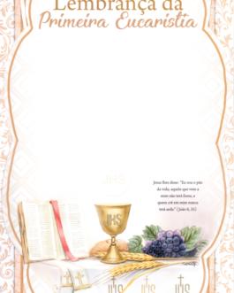 Lembrança de Primeira Eucaristia ref.LS-052